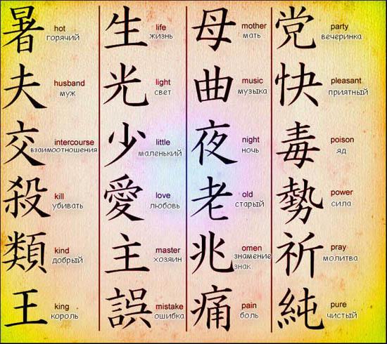 Японские иероглифы своими руками